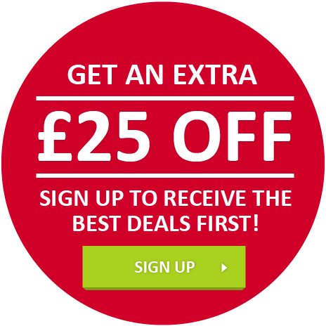 Never miss a deal. Sign up to receive the best deals first